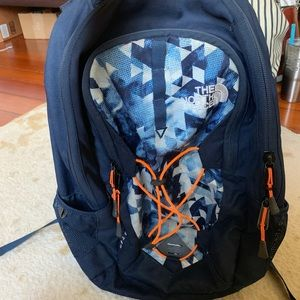 North face jester backpack (navy)
